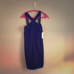 Laundry Halter Knee Length Dress Black